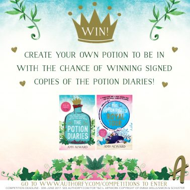 Create your own potion & win signed 'Potion Diaries'
