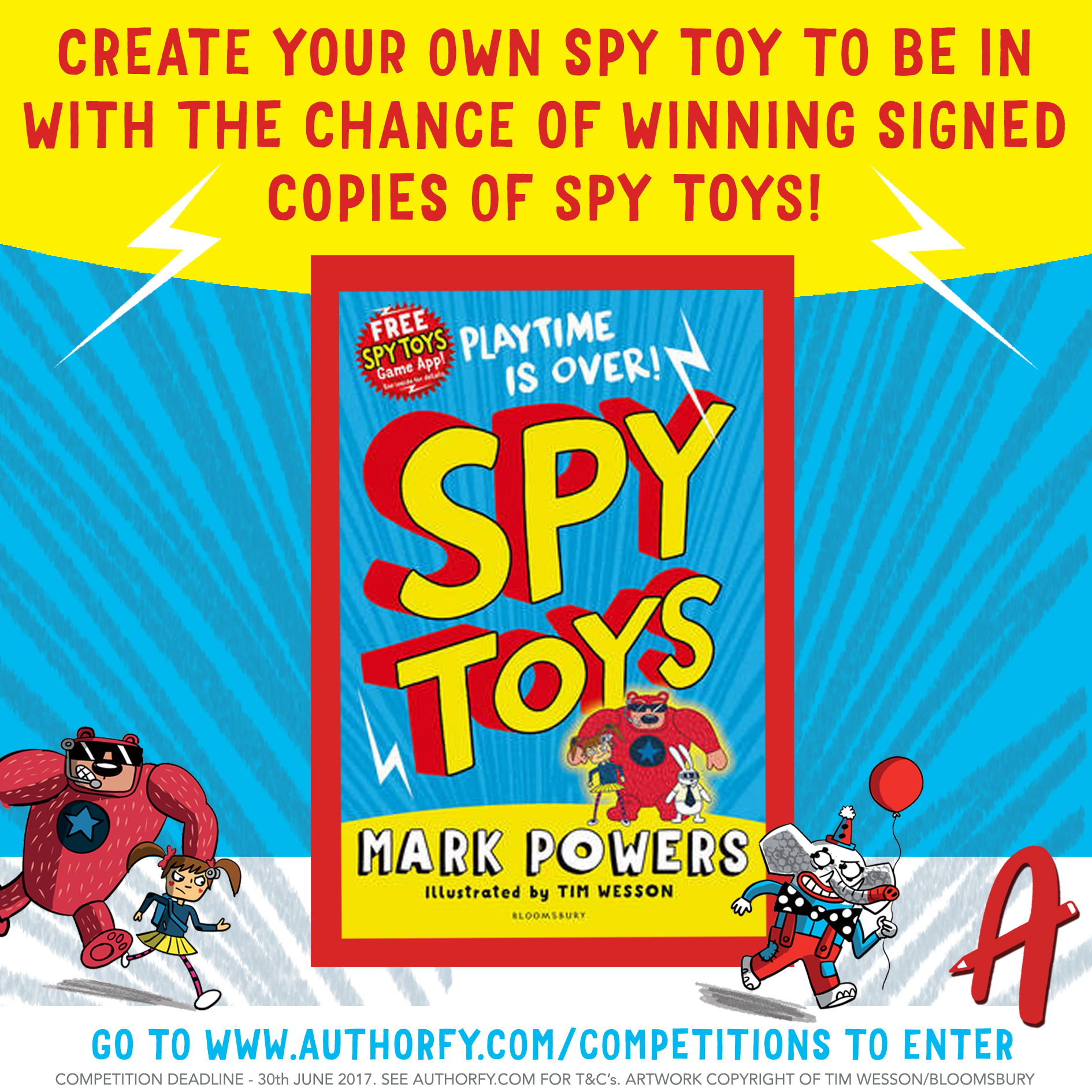 Create your own Spy Toy & win signed copies of Spy Toys authorfy
