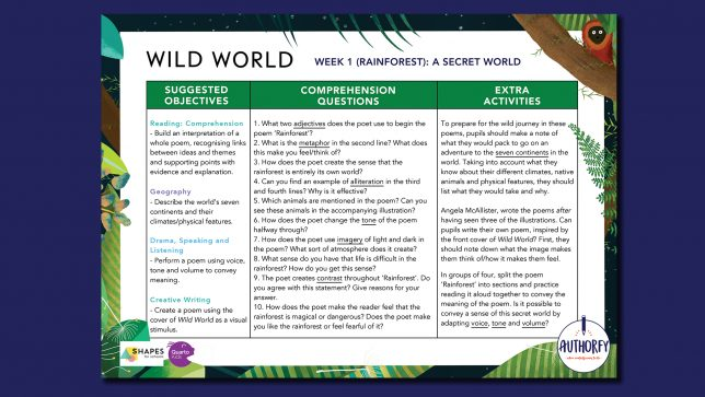 Wild Worlds Scheme of work