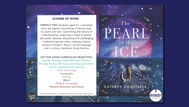 The Pearl in the Ice Scheme of work on navy background