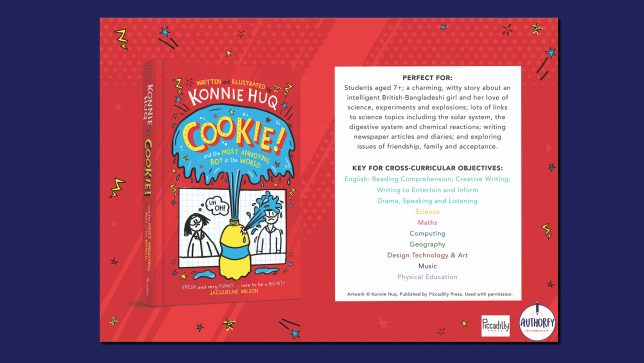 Cookie book cover on red background