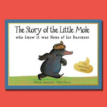 Red Creative Cover Little Mole
