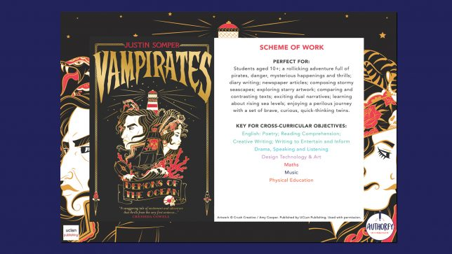 Vampirates Scheme of work on navy background