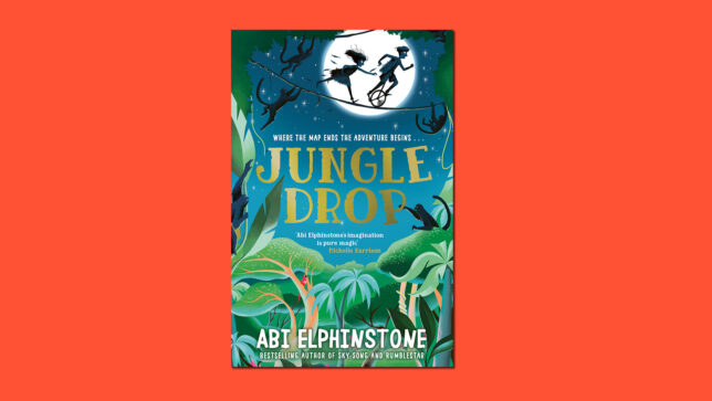Jungledrop book cover on red background