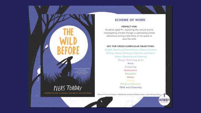 The Wild Before scheme of work on blue background