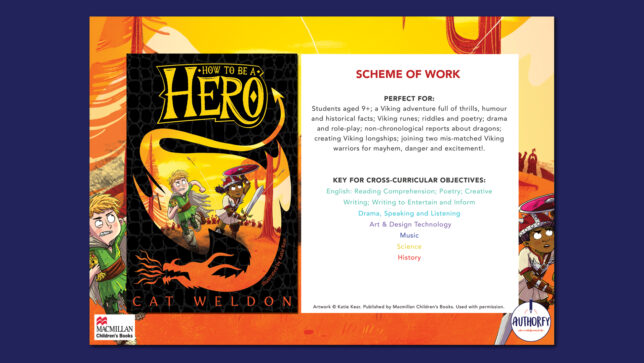 How To Be A Hero Scheme of work on navy background