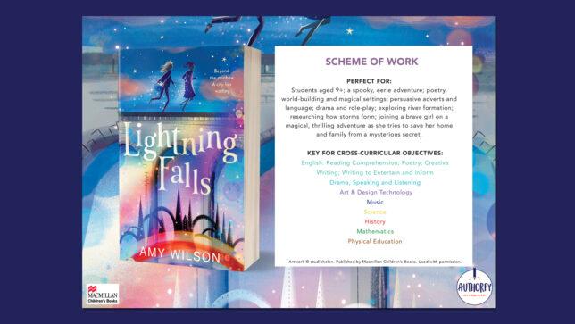 Lightning Falls Scheme of work on navy background