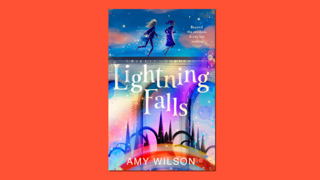 Lightning Falls book cover on red background